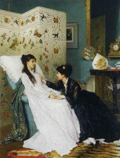 The Convalescent, Gustave Leonhard de Jonghe (1829 - 1893)