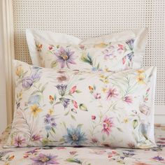 Multicoloured Floral Print Pillow Case