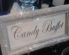DIY Winter Wedding Party Ideas for Couples - DIY Cuteness ideas for birthday Candy Buffet Signs, Candy Buffet Tables, Bling Candy Buffet, Dessert Table, Wedding Candy Buffet, Sweet 16 Birthday, 50th Birthday Party, Birthday Ideas, Diamond Party