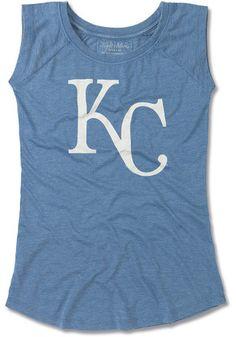 Kansas City Royals Womens Blue Meteor Tank Top