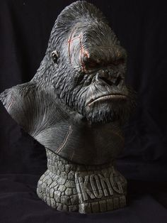 Kong-painted version by on DeviantArt The Revenant, Art Forms, Cool Art, Lion Sculpture, Skull, Creatures, Deviantart, Statue, Resin