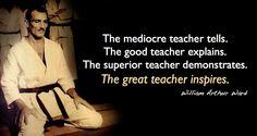 The great teacher inspires.