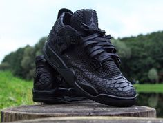 "Air Jordan 4 ""Black Python"" Customs by McMaggi"
