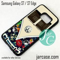 Old Floral Vw Retro Bus Phone Case for Samsung Galaxy S7 & S7 Edge