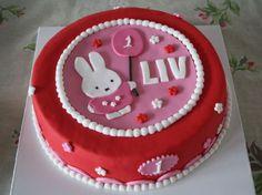 Verjaardagstaart 1 jaar Nijntje   1jaar   Pinterest