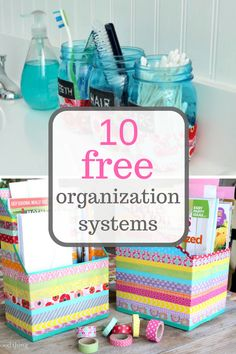 Save money with these repurpose projects that will organize everything! Organization, Organization Systems, Organization Systems For the home, Home, Organized Home