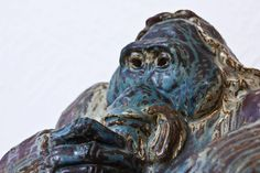 1940s Orangutan by Knud Kyhn for Royal Copenhagen   From a unique collection of antique and modern ceramics at https://www.1stdibs.com/furniture/dining-entertaining/ceramics/