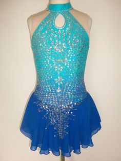 CUSTOM MADE FIGURE SKATING BATON TWIRLING DRESS COSTUME #Unbranded