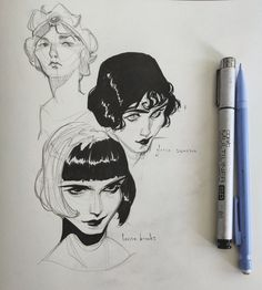 """Lois van Baarle on Twitter: """"Some recent sketches! I started a new sketchbook (without finishing my old one 😅)… """""""