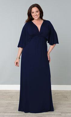 Plus size maxi dress in a gorgeous blue color. #plussize #kiyonna ...