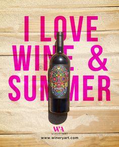 WineryArt  www.wineryart.com #summer #design #packaging #wine #winelabel #pink #wineryart