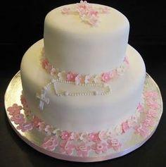 First Communion Cake - Cake Decorating Community - Cakes We Bake First Holy Communion Cake, Religious Cakes, First Communion Decorations, Confirmation Cakes, Paris Cakes, Girl Cakes, Celebration Cakes, Cake Art, Beautiful Cakes