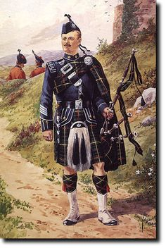 British Empire: Armed Forces: Uniforms: British Infantry: The Royal Scots: Band