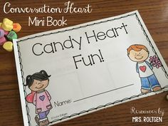 FREE!  Conversation Heart Mini Book - This mini-book has students use conversation hearts to complete math tasks such as sorting, addition, ten frames, and more!