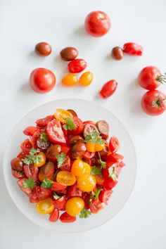It's officially summer! And that means, TOMATOES GALORE! Here are 40 Incredible Summer Tomato Recipes to get you excited! Beef Recipes, Cooking Recipes, Tomato Salad Recipes, Summer Tomato, Recipe Search, Fabulous Foods, Side Dish Recipes, Easy Cooking, Food Photography