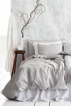 30 Bedding Grey For Your Room 20 #BedLinenBeautiful