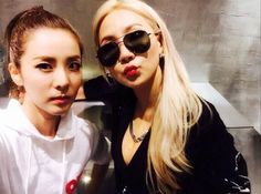 sandara park and CL 2ne1 Dara, Cl 2ne1, Cat Eye Sunglasses, Mirrored Sunglasses, Sunglasses Women, South Korean Girls, Korean Girl Groups, Sandara Park, Yg Entertainment