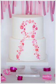Pink Breast Cancer Awareness Cake