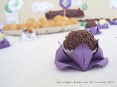 Decoração de festa: forminhas de origami para doces - Sakura Origami Ateliê