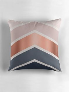 Chevrons in blush, navy and copper by UrbanEpiphany