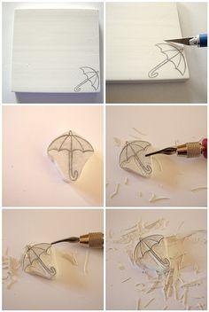 stamp carving tutorial (;   Flickr - Fotosharing!