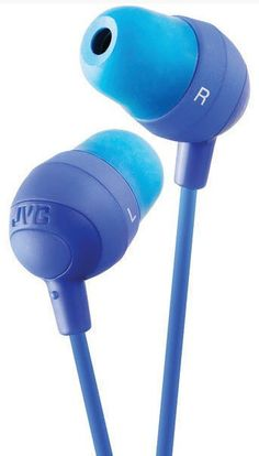 JVC Marshmallow Blue Stereo Memory Foam Earbuds 8-20K Hz New Free US Shipping