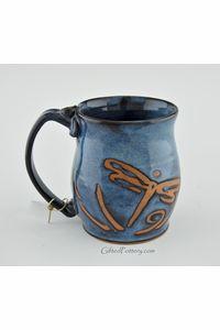 """""""Enjoy This Day"""" Blue Dragonfly Mug"""