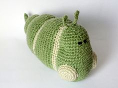 Caterpillar Toy green caterpillar Caterpillar with от KnittedJoy1