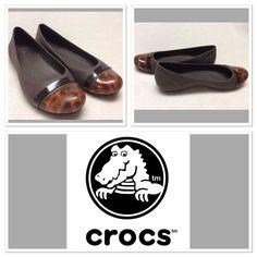 Crocs Brown Cap Toe Ballet Flats Size 8   eBay