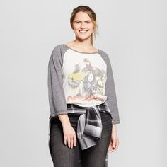 Marvel Women's Marvel® Plus Size The Defenders Raglan 3/4 Sleeve Graphic T-Shirt (Juniors') - White From saving the city streets from evil to just lazing around the house with friends, let this The Defenders Raglan-Sleeve Graphic T-Shirt from Marvel channel your inner hero. Featuring Iron Fist, Luke Cage, Daredevil and Jessica Jones,