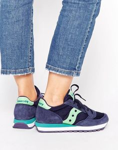 Image 1 of Saucony Jazz Navy & Mint Sneakers