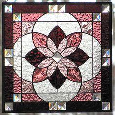 Stained Glass Beveled Star Burst Hanging  by LivingGlassArt,