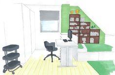 Jugendzimmer mit Dachschräge www.lk-design.at Shoe Rack, Wordpress, Design, Home, Store Shelving, Swivel Chair, Paint For Walls, Shoe Cupboard, Ad Home