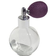 Glass Perfume Bottle with Lavender Mesh Atomizer Bulb