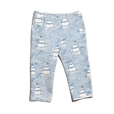 French Terry Baby Pants - High Seas Teal