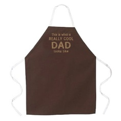 """Attitude Aprons REALLY COOL DAD Brown Cooking Grilling Apron  Fathers Day """"This is What a Really Cool Dad Looks Like"""" :D $19.99"""