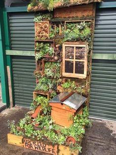 Garden Ideas Eyfs, Garden Ideas Uk, Eco Garden, Garden Bugs, Forest Garden, Natural Garden, Garden Inspiration, Eyfs Outdoor Area, Vertical Garden Wall