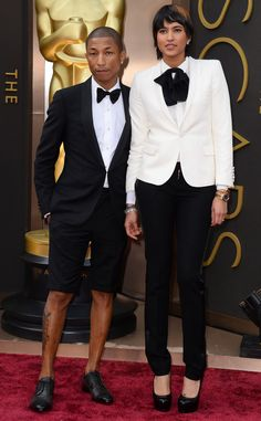 Um, WTF?!  FASHION POLICE: 2014 OSCARS SHORTS?! Is Pharrell Williams responsible for an Academy Awards first? We're not sure that's an award worth winning if it's for the first tuxedo shorts worn on the red carpet. We're all for wild fashion choices, but Hollywood's biggest night requires a complete pair of pants