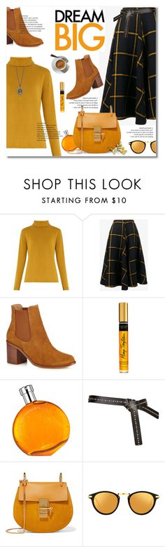 """cheer"" by limass ❤ liked on Polyvore featuring Chloé, JOUR/NÉ, Hermès and Linda Farrow"