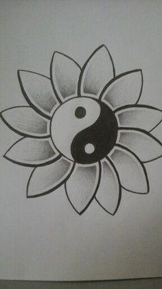 easy drawings creative drawing ideas for beginners Pencil Art Drawings, Cool Art Drawings, Doodle Drawings, Art Drawings Sketches, Tattoo Drawings, Drawing Art, Tattoo Sketches, Drawing Designs, Tattoo Ink