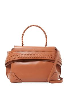 Wave Leather Satchel Bag by Tod  s at Gilt 5284292f30cf5