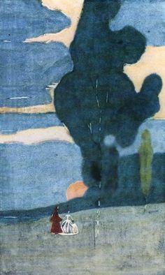 Wassily Kandinsky (1866-1944) Moonrise (1903) Munich, Stadtische Galerie in Lenbach, Germany