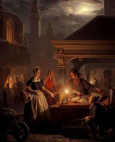 """""""The fish market,"""" Petrus van Schendel (1806-1870)"""