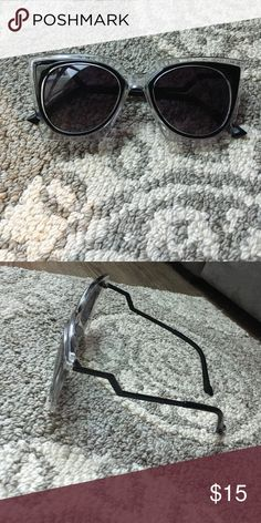 Lighting Boult Sided Sunglasses never worn. comes in case. not nasty gal but for views! MAKE OFFER!! Nasty Gal Accessories Sunglasses