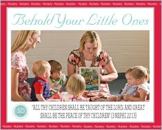 Behold Your Little Ones - Lesson Helps | Sugardoodle.com -- A Listing of Lots of Ideas for Each Lesson in the Nursery Manual