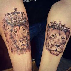 Bildergebnis für lion couple tattoos