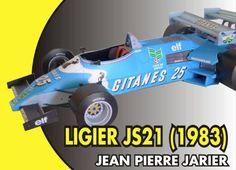 F1 Paper Model - 1983 Ligier JS21 Paper Car Free Template Download - http://www.papercraftsquare.com/f1-paper-model-1983-ligier-js21-paper-car-free-template-download.html#124, #Car, #F1, #F1PaperModel, #FormulaOne, #JS21, #Ligier, #LigierJS21, #PaperCar