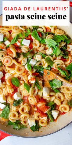 """This pasta was made for me all the time when I was a kid. My grandfather used to make it for my mom and her sisters, and then our parents made it for us! Sciue Sciue is pronounced sort of like """"shway shway"""" – it's as fun to eat as it is to say! – and it translates to """"hurry hurry,"""" but in a kind of improvisational, off-the-cuff way. It's so simple, but perfect for summer when you have an abundance of beautiful, ripe and sweet tomatoes. Giada Recipes, Quick Recipes, Dinner Recipes, Varieties Of Tomatoes, Plum Tomatoes, Italian Recipes, Italian Foods, Tomato Mozzarella, Summer Tomato"""