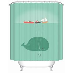 2016 New Naughty Cute Whale Waterproof Shower Curtain Bathroom Curtain Eco-Friendly Bathroom Products Shower Curtains Y-136