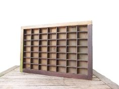 Vintage Printer's Drawer  Rustic Wood Letterpress Tray